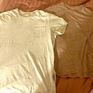 2 J Crew pocket T shirts, bundle deal